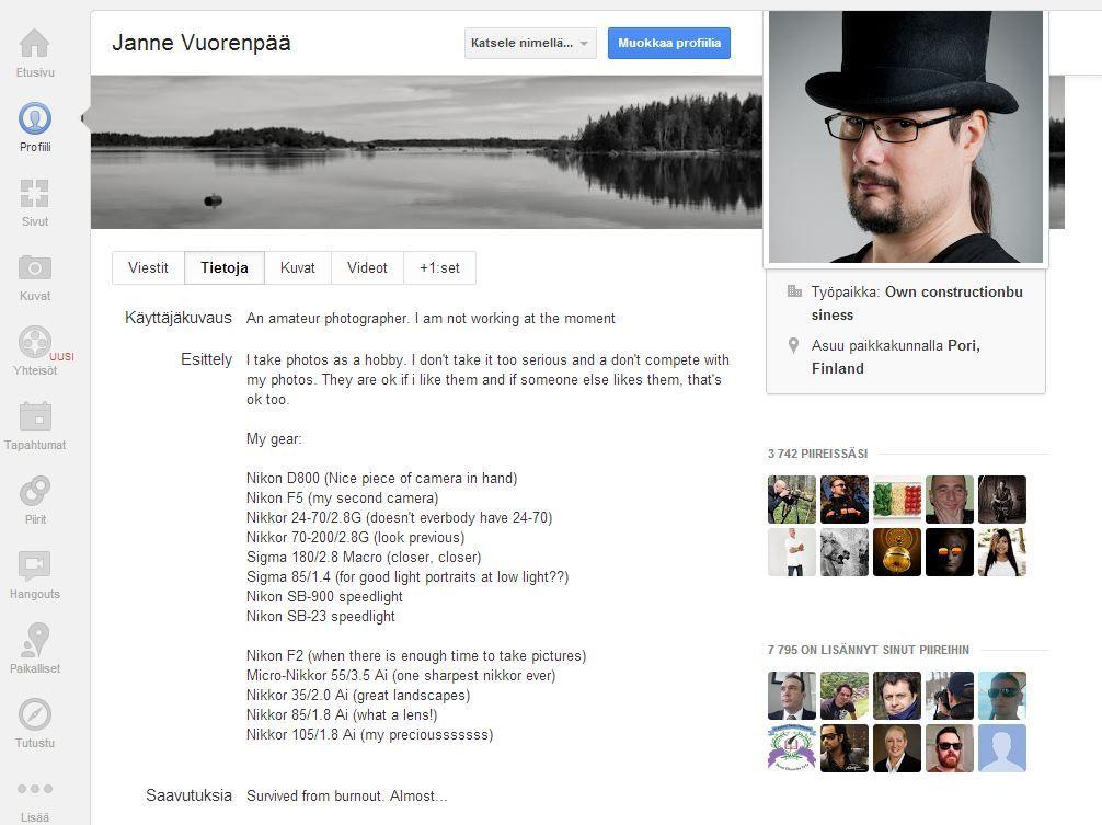Google+ asiaa blogissa - Porin Kameraseura ry