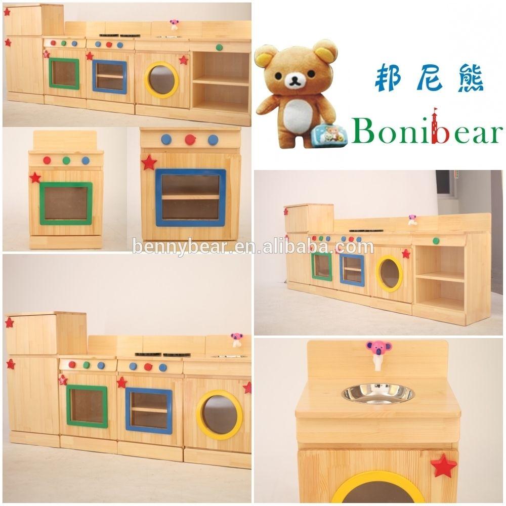 Children Wooden Role Play Kitchen Furniture Toy Buy Wooden Kitchen