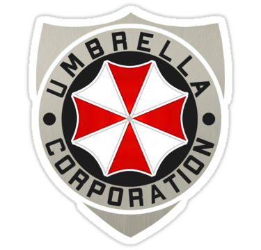 Umbrella Corporation Logo Badge Sticker Resident Evil Sticker Umbrella Corporation Resident Evil Umbrella