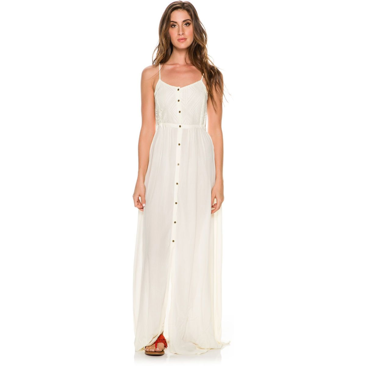 Press bianca french terry maxi dress