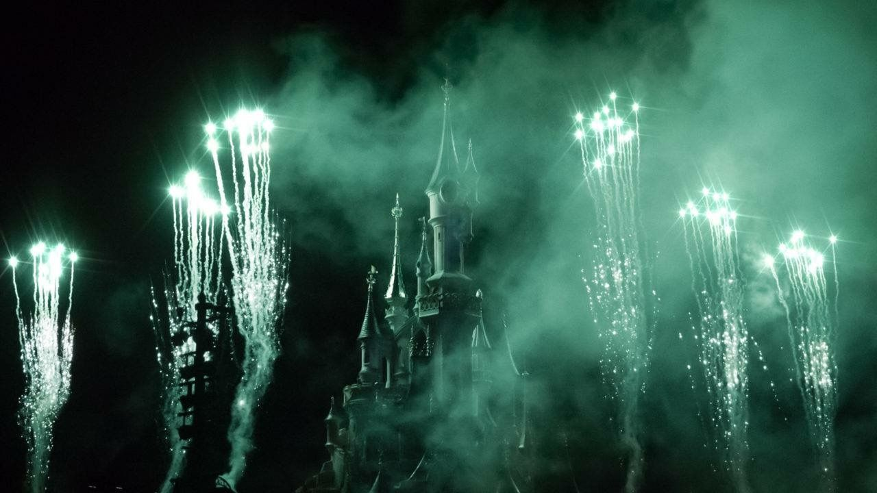 Fireworks at the Disney Castle in Paris