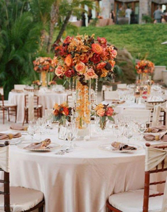 Outdoor Wedding Centerprieces