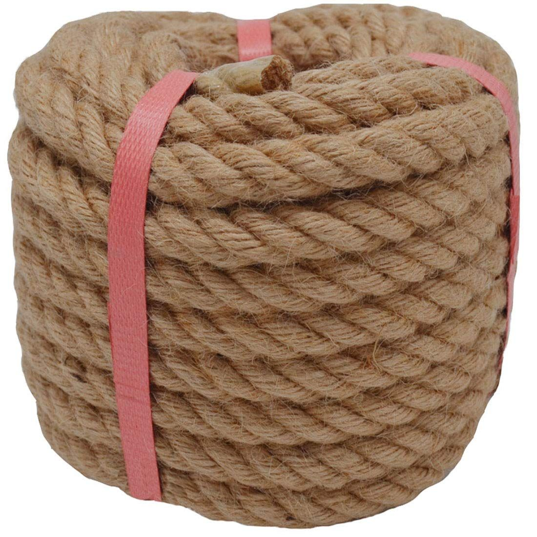 Zhitao Natural Jute Rope 50 Ft 1 2 Inch Twisted Manila Hemp Rope Thick Heavy Duty Outdoor Cordage For Craft Dock Decorative Manila Rope Jute New Crafts