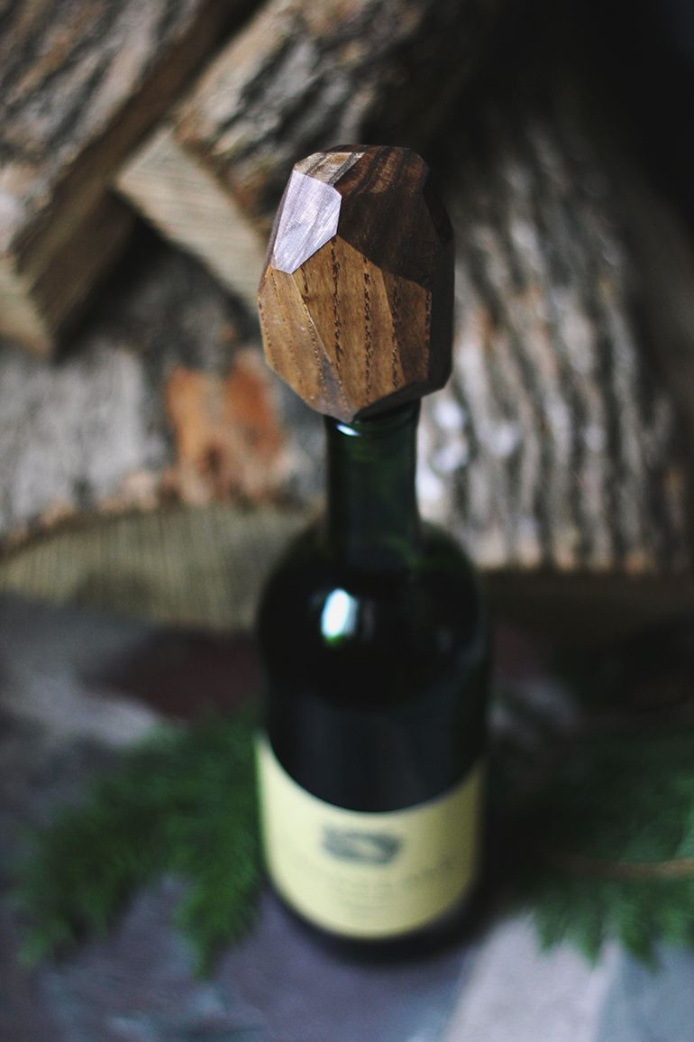 Diy wooden geometric wine stopper wine stoppers wine and craft