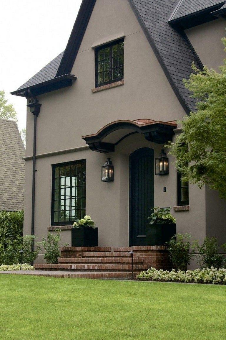 50 Amazing Black House Exterior Outside House Colors Stucco House Colors Exterior House Colors