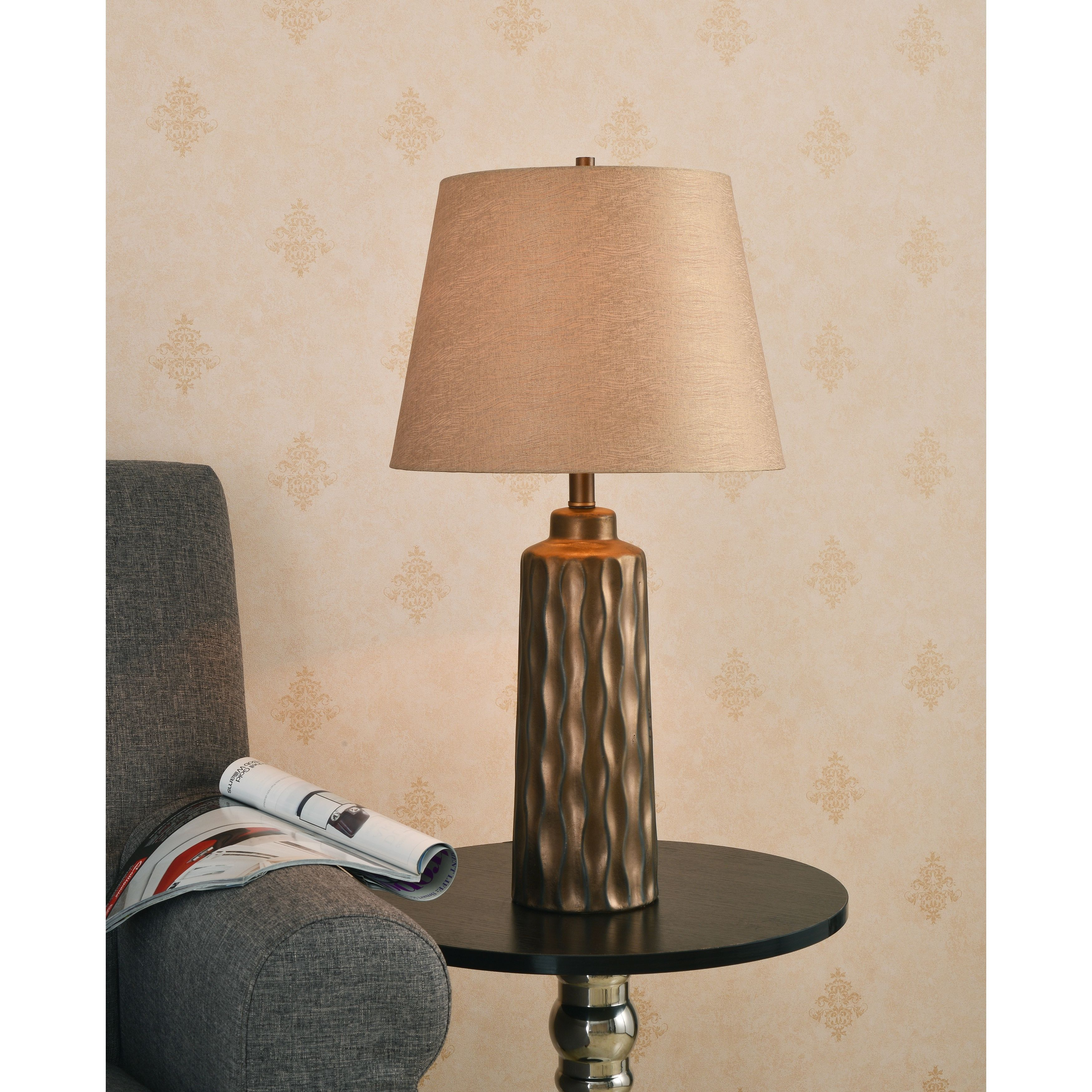 Design craft valley table lamp brown ceramic outlet store design craft valley table lamp geotapseo Images