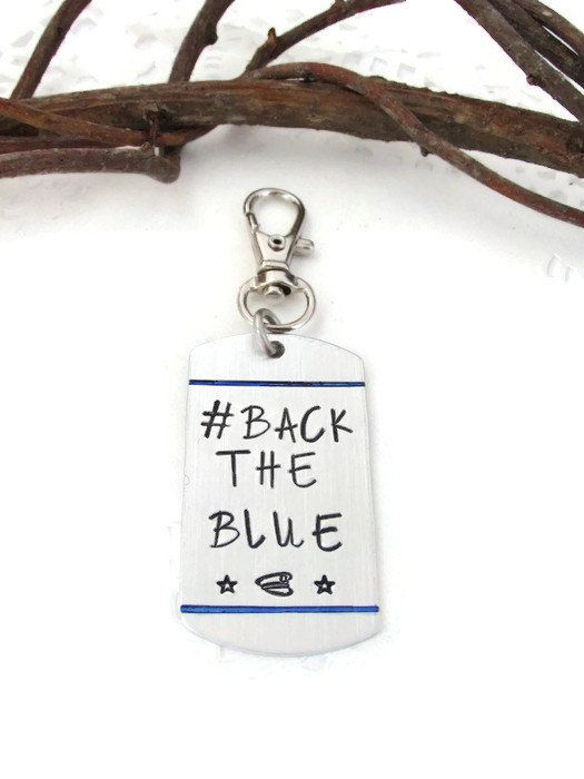 Law Enforcement Support Keychain  BACKTHEBLUE  by JulessJewels