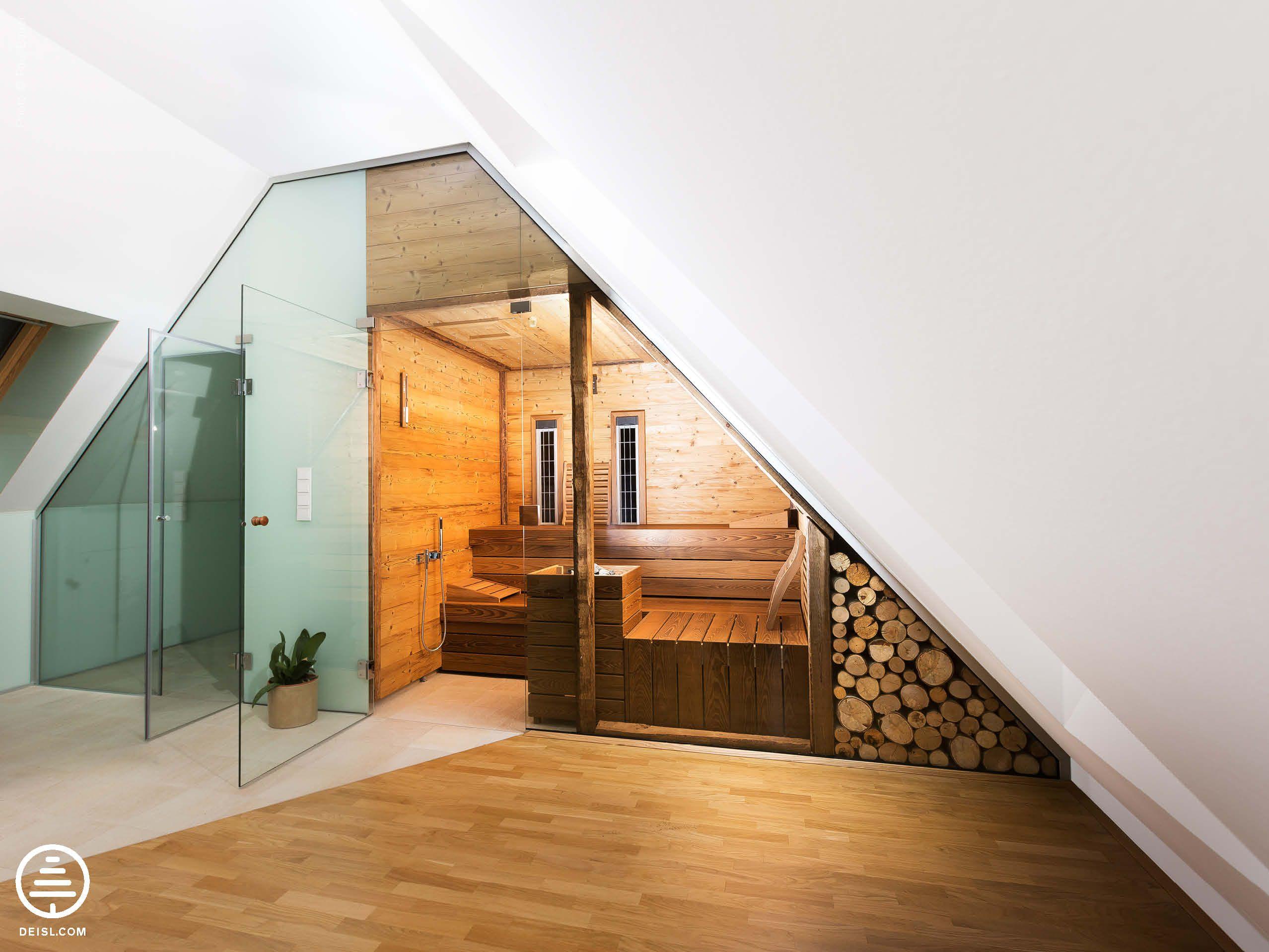 Badezimmer Sternenhimmel ~ Eingebaute sauna von deisl in fichte thermobehandelt und gehackte