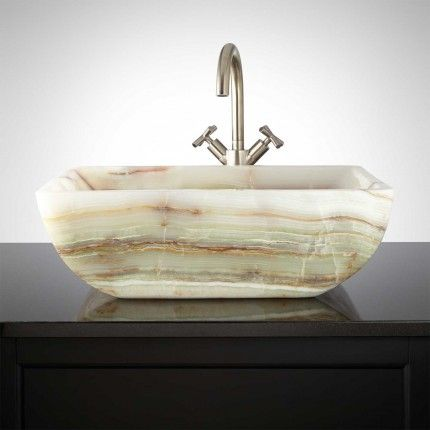 Bonsall Green Onyx Vessel Sink Regency Bathroom Pinterest - Vessel Sinks Bathroom