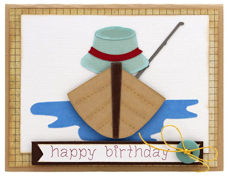 Image from for Fishing birthday cards