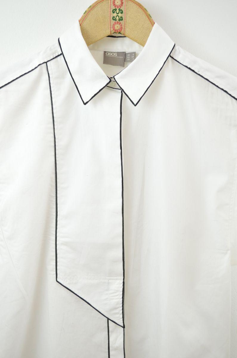Chemisier blanc courageux avec une différence # 1 | monochrome   – models…
