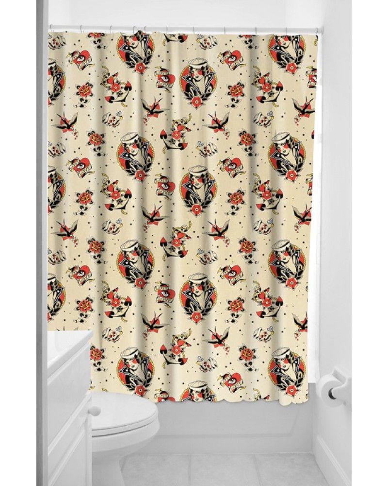 Sourpuss lost love shower curtain tragic beautiful buy online