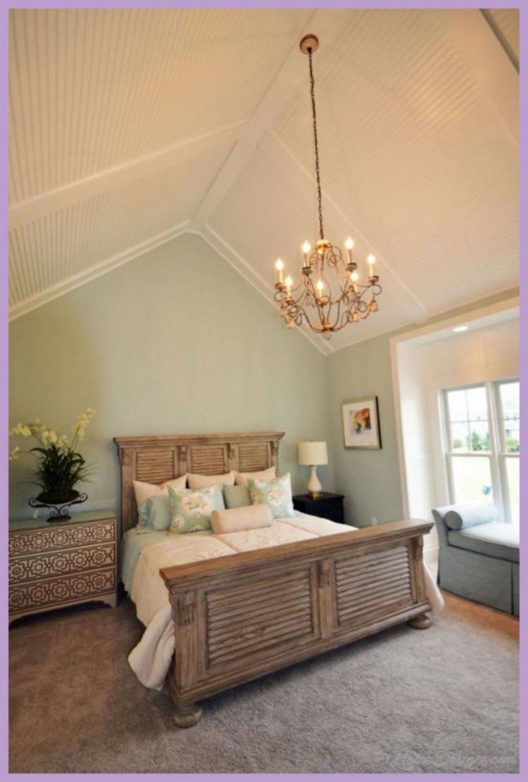 30+ Vaulted Ceiling Bedroom Design Ideas For Inspiration | Bedroom ...