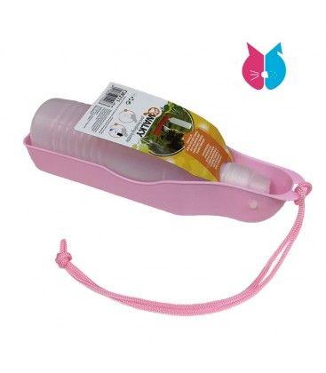 Botella Bebedero Rosa para Perros