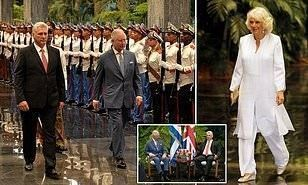 The Prince and El Presidente: Charles and Camilla meet Cuban leader at the Palacio de la Revolucion before sitting down for dinner on their historic royal visit of the country #cubanleader The Prince and El Presidente: Charles and Camilla meet Cuban leader at the Palacio de la Revolucion before sitting down for dinner on their historic royal visit of the country #cubanleader The Prince and El Presidente: Charles and Camilla meet Cuban leader at the Palacio de la Revolucion before sitting down fo