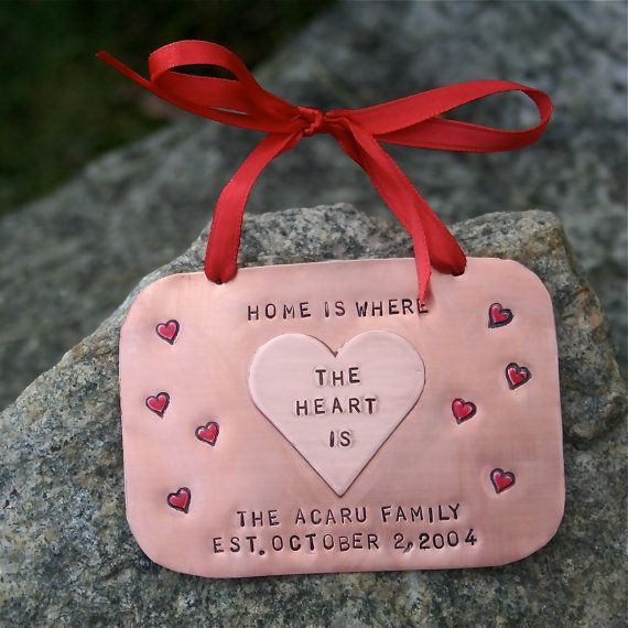 Family  Home Is Where The Heart Is HandStamped by CharmsofFaith, $29.00