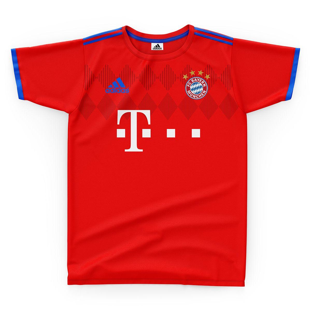 4711fede5 Fc Bayern Munchen Football Kit 18/19. on Behance | Football clubs ...