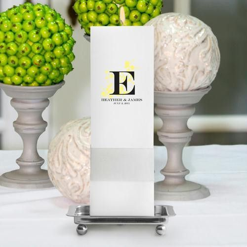 Personalized Nature¿s Bliss Unity Candle with stand ¿ Square Pillar