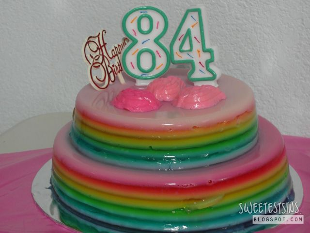 Rainbow Agar Agar Cake BakingCooking Pinterest Ladies