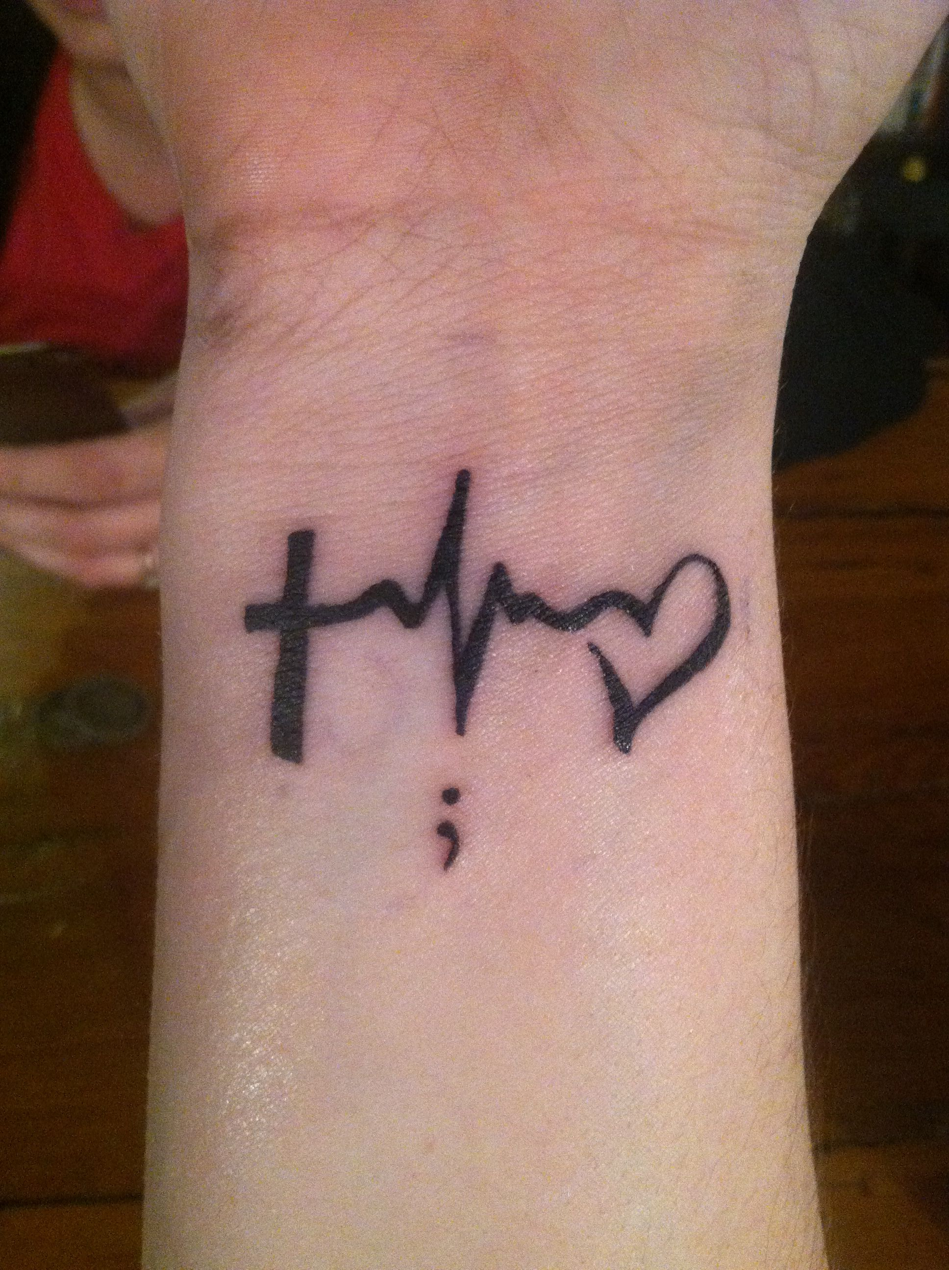 Faith, Hope, and Love with a semi colon meaning you could