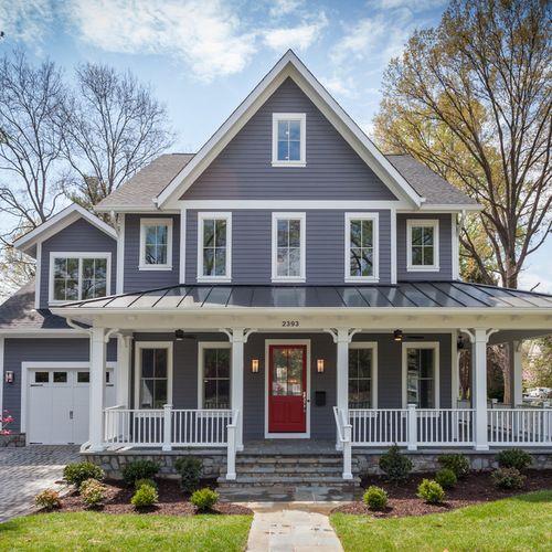 Houzz Home Design Ideas: Farmhouse Exterior Design Ideas & Remodel Pictures