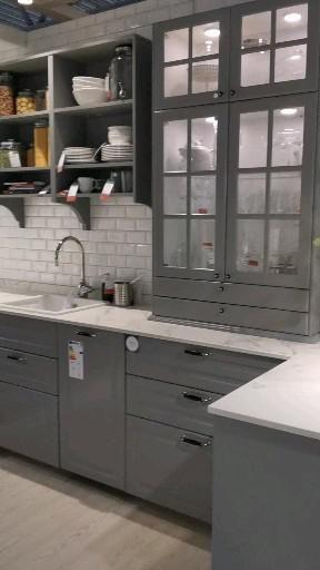 IKEA Bodbyn grå kjøkken