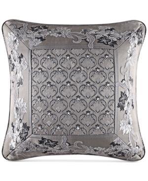 "J Queen New York Alessandra20"" Square Decorative Pillow - Gray"