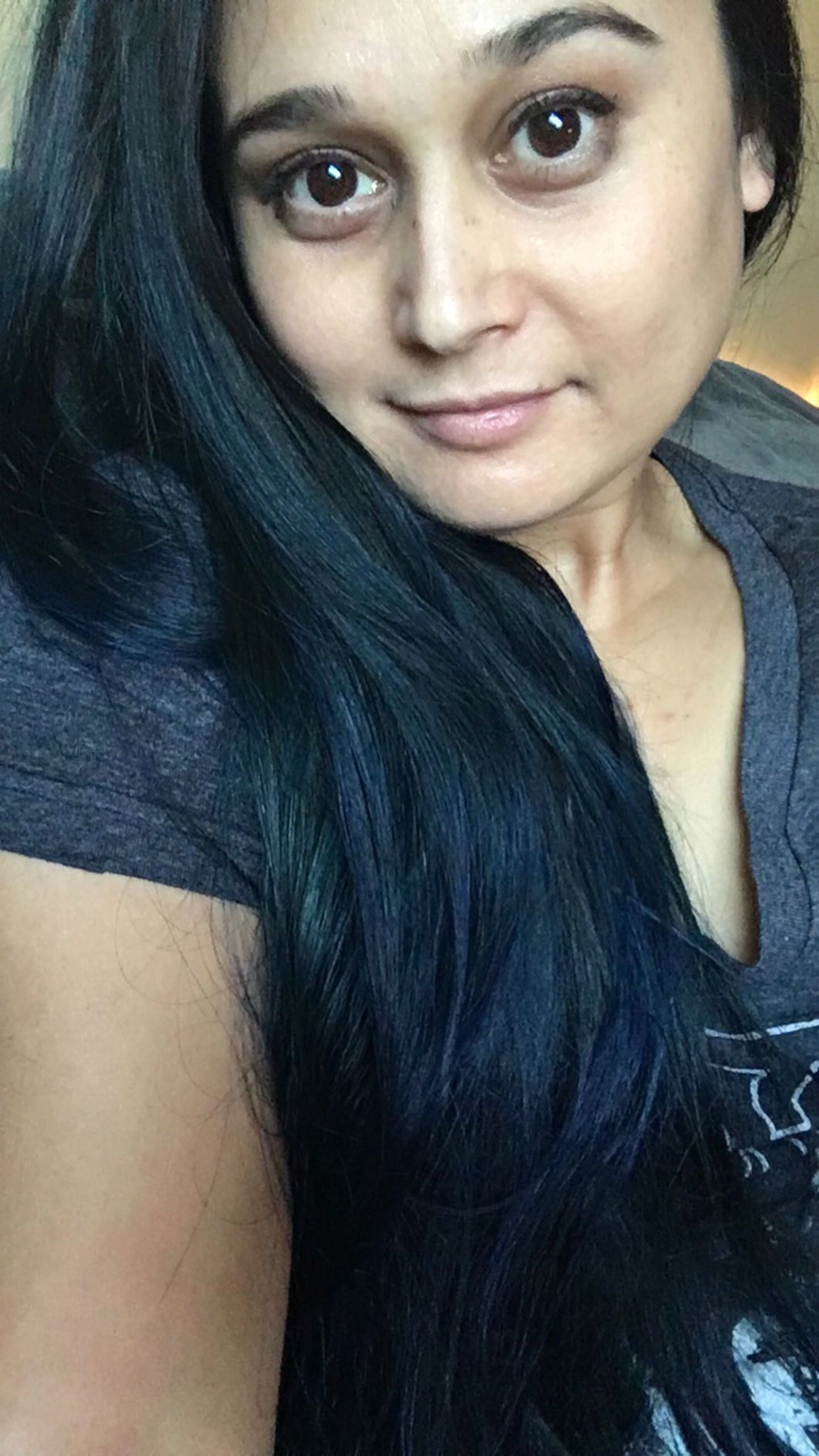 Moody blues. My hair to match my mood. Lovin' this color
