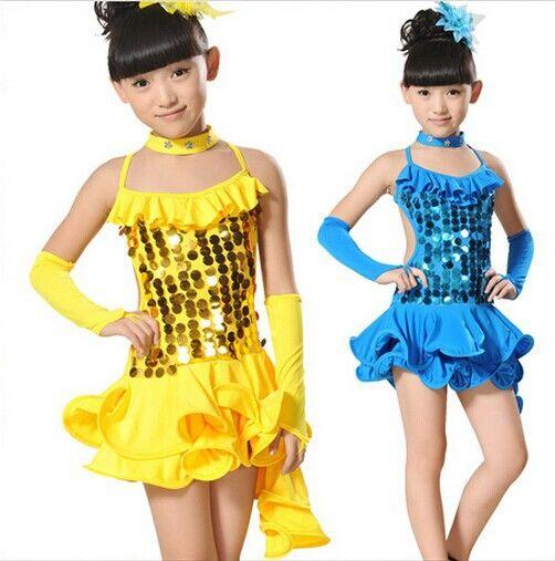 5fedd4b6357 Cheap Envío gratis Latin Dance Dress para las niñas niños del salón de baile  latino de