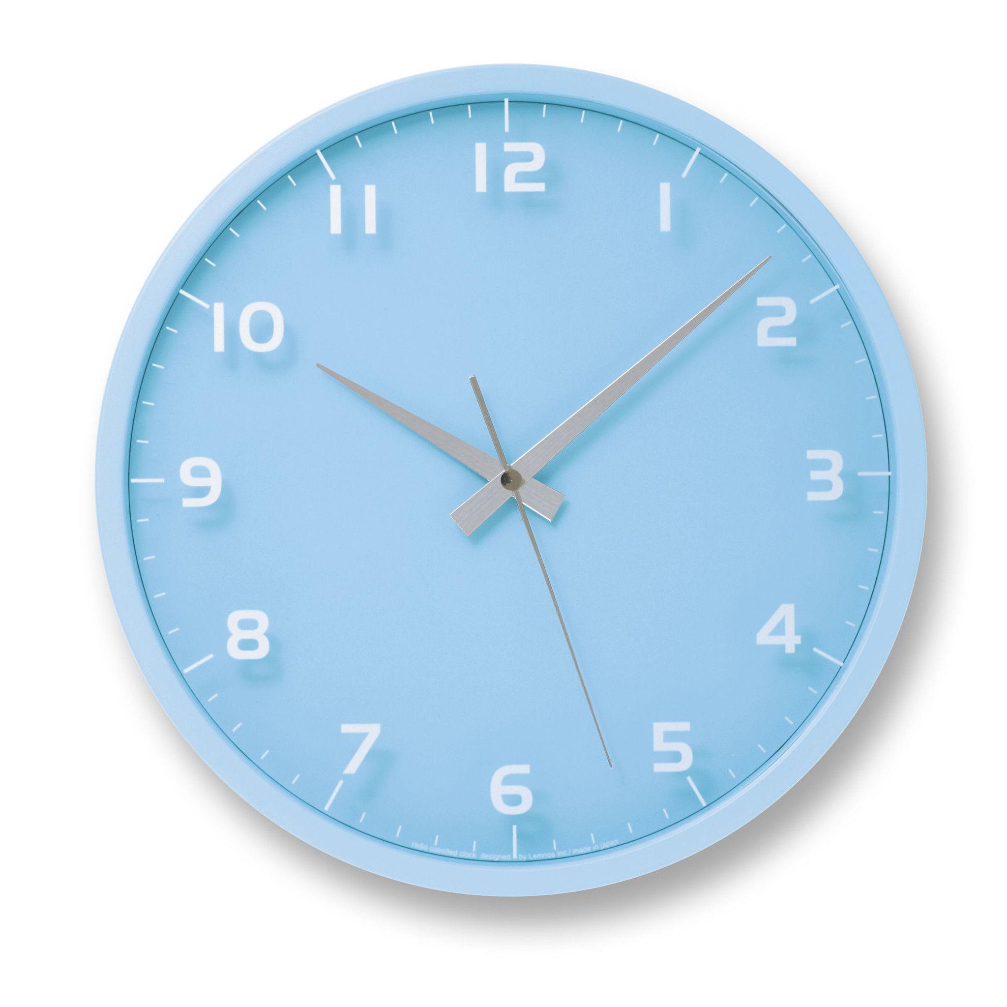 Nine Wall Clock In Light Blue Design By Lemnos Blue Clocks Blue Wall Clocks Light Blue Aesthetic