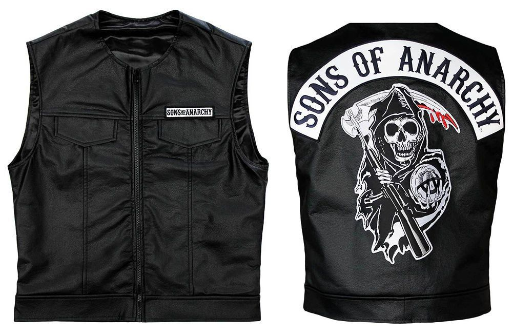 Sons Of Anarchy Biker S Faux Leather Vest Criatura Motos