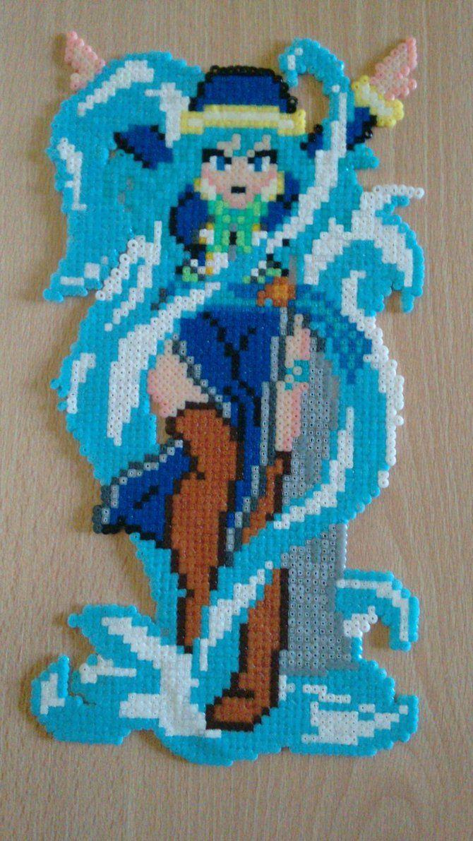 Juvia Lockser - Fairy Tail hama beads by Kirynart