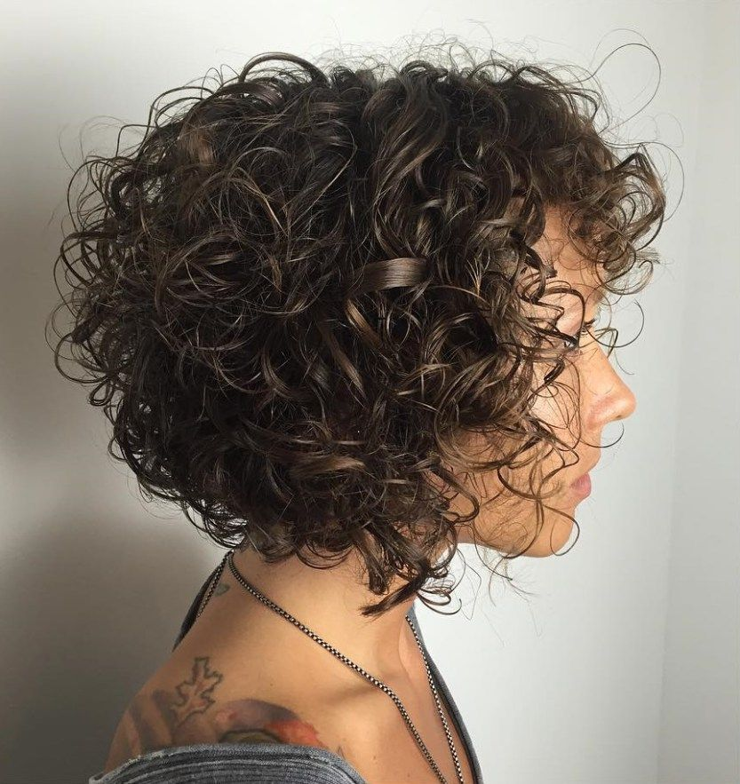 Brown Bob For Curly Hair Curly Hair Styles Naturally Hair Styles Short Wavy Hair
