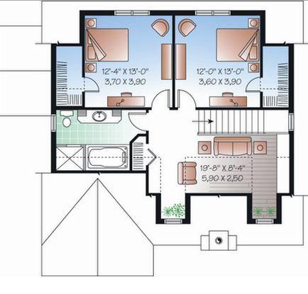 Plano de casa de 3 dormitorios con medidas en metros for Planos de casas con medidas