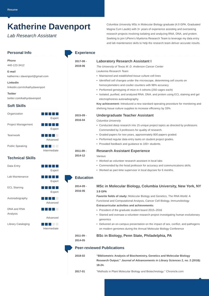 30++ Research assistant skills resume ideas