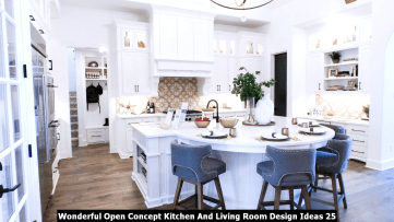 Wonderful Open Concept Kitchen And Living Room Design Ideas