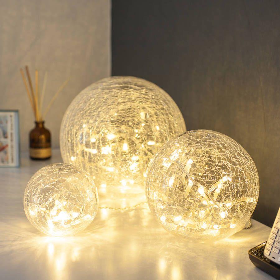 Set Of Three Fairy Light Orbs In 2020 Warm White Fairy Lights