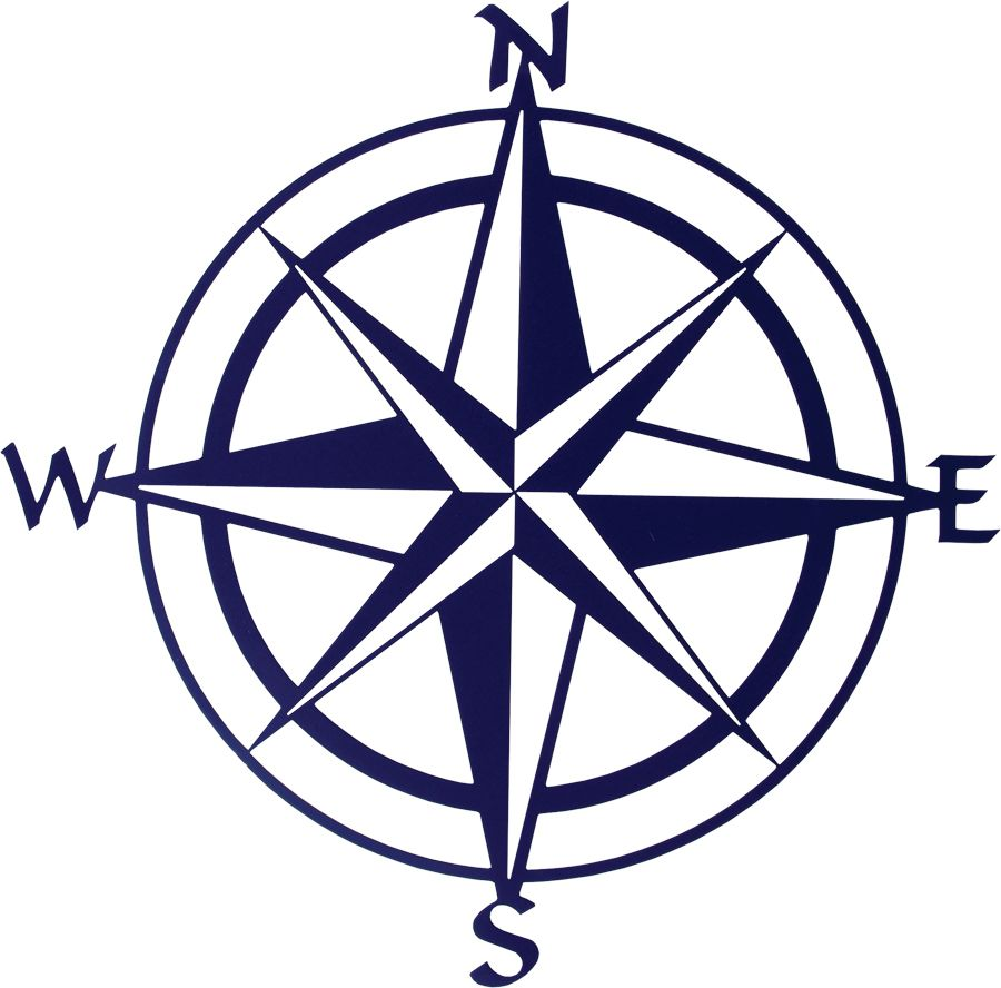 This Navy Blue Compass Rose Wall Art Piece Is Both Sophisticated
