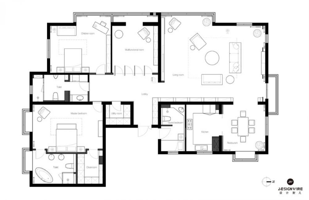 260 Beijing Fashion Artist Residential Design Build E Interior Design Network Design Case Layout How To Plan Floor Plans