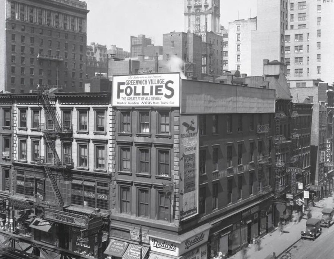 1928. Sixth Ave and 44th St. LeBourget Restaurant