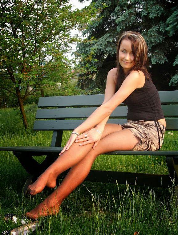 High heels nylons