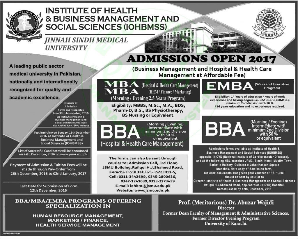 open admission 2017 in institute of business management iobm daily open admission 2017 in institute of business management iobm daily newspaper jobs 2016 jobs in