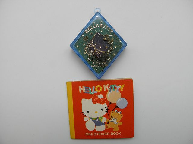 Mini sticker book. Contains 5 stickers. Measures 5 inches by 6 inches approx. Sanrio 1987. Hello Kitty eraser Sanrio Japan 1986     Virtually every lady Enjoy hello kitty, so why don't you be with her for ever?