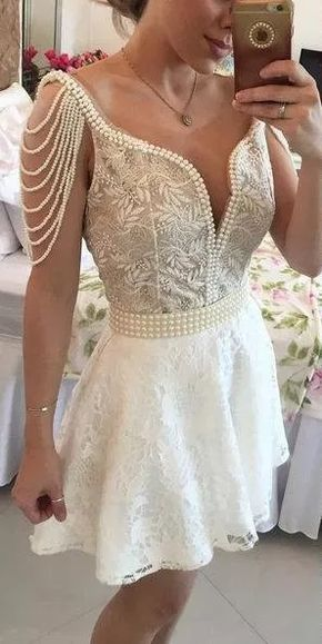 f90523bb4 vestido perolas tule e renda - formatura noiva debutante | Just for ...