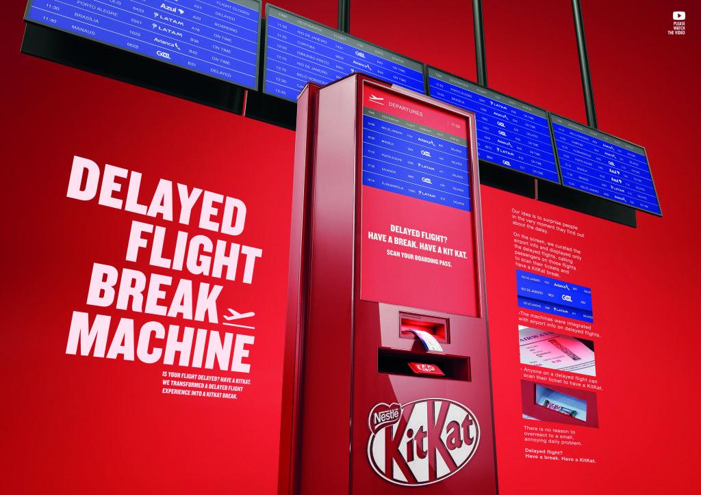 Kit Kat S Airport Vending Machine Via Jwt Brazil Hands Out Free