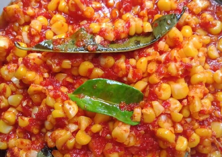 Resep Sambal Jagung Oleh Rika Supriani Ardhy Resep Makanan Dan Minuman Makanan Jagung