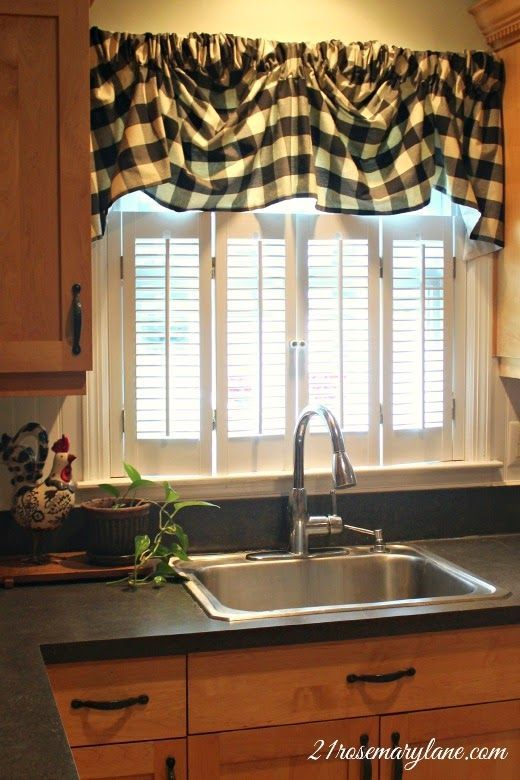 Kitchen Window Treatments Over Sink Diy Cafe Curtains