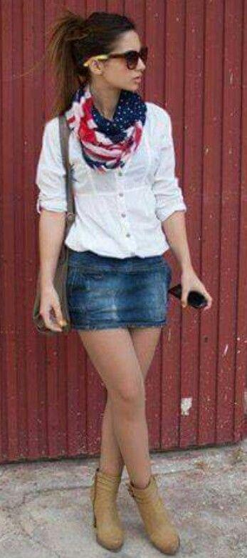 008d5f4a7 casual con minifalda de mezclilla | Nais en 2019 | Mini faldas de ...
