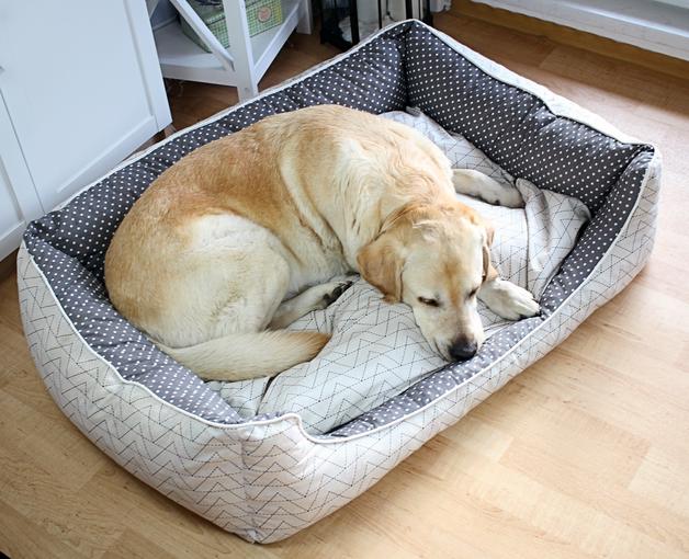 Hundebett nähen | Schnittmuster Hund Nähanleitung