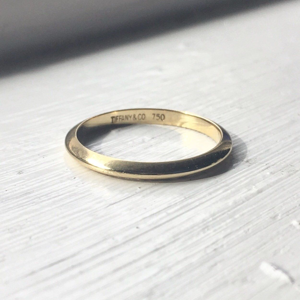 Just Listed Vintage Tiffany Co Knife Edge Wedding Band In
